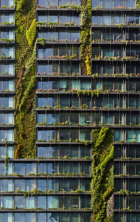 Jean Nouvel's Sydney towers boast vertical gardens and a huge sunlight reflector.