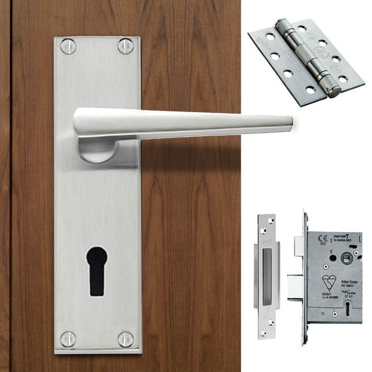 DL75 Victorian Contemporary Lever Lock Satin Chrome Handle Pack. #doorhandle&lock #lever&lock&hinges #moderndoorhandlepack