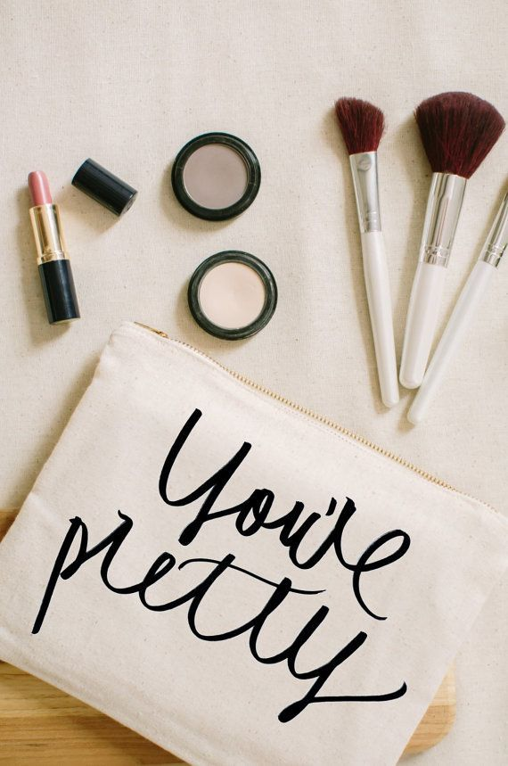 You're Pretty Cosmetic Bag make up pencil by ParrisChicBoutique