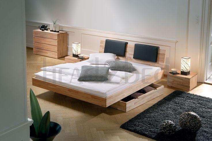 Solid Wood Beds | Hasena Woodline Vilo Varus Solid Wood Floating Bed - Head2Bed UK