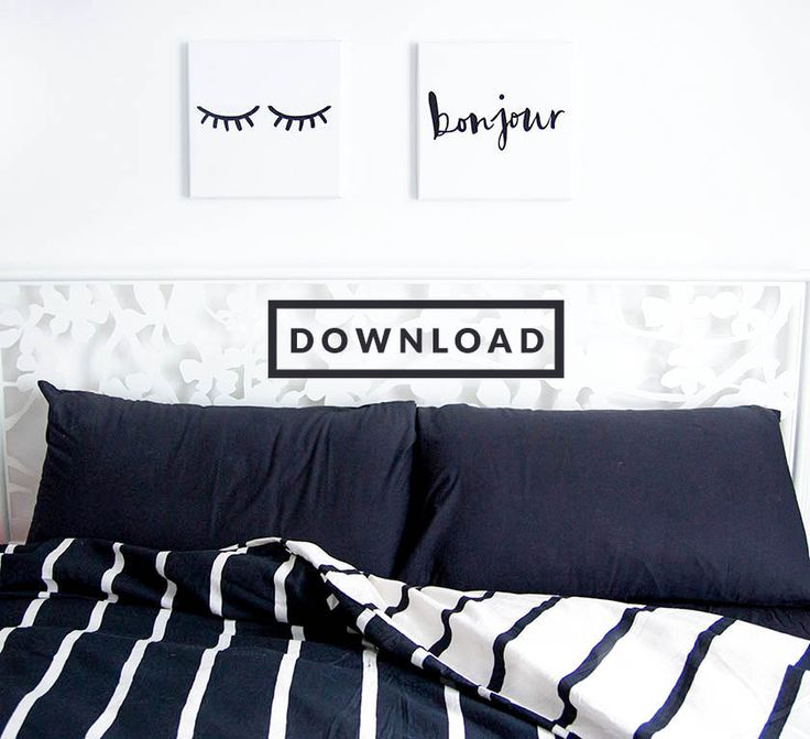 "Download: i quadri camera da letto, ""occhi"" e ""bonjour"" freebies printables download 