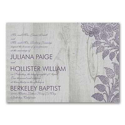 Inspiring Lace - Invitation. Available at Persnickety Invitation Studio