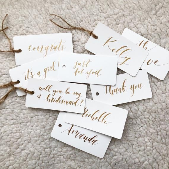 Calligraphy Gift Tags Personalized Custom