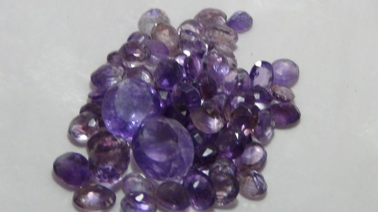 237CTS 100%NATURAL TOP COLOR AMETHYST FACYTED WHOLESALE LOT IN LOOSE GEMSTONES + #asgems
