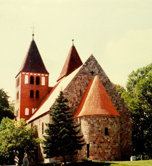 Romanesque church in Inowrocław.