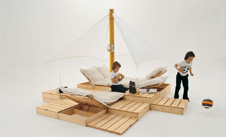 Wooden pallet play set for kids