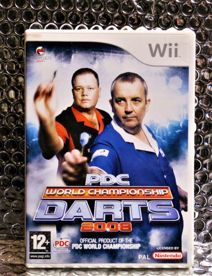 PDC World Championship Darts 2008 Nintendo Wii-2008 - Complete Wii  PERFECT DISC