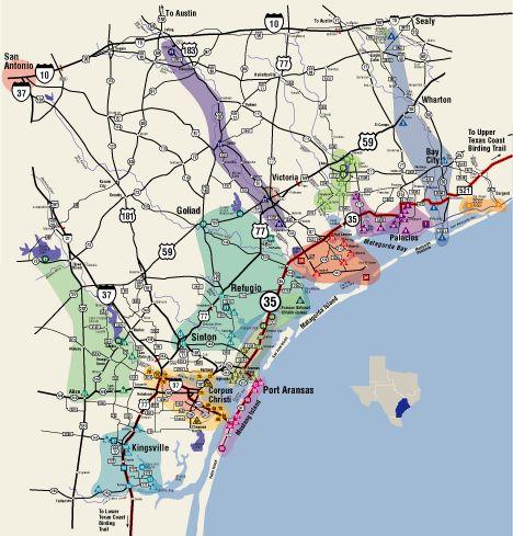 Great Texas Coastal Birding Trail  Central Texas Coast