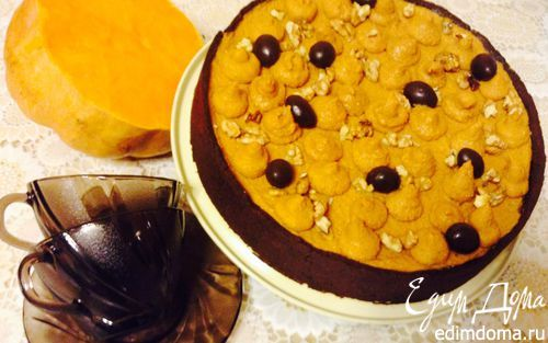 Чизкейк: шоколад-тыква-карамель | Кулинарные рецепты от «Едим дома!»