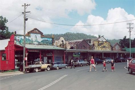 Nimbin, the hippie capital of Australia.  It's out in the country and this is the main (and only) street in the town.  Good times.