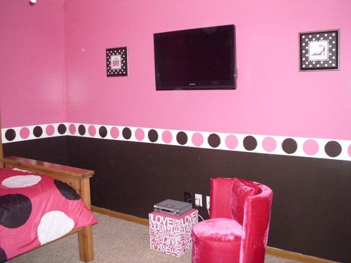 pink and black bedroom - Pink And Black Bedroom Paint Ideas
