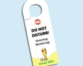 Do not disturb door hanger - World Cup Brazil 2014.