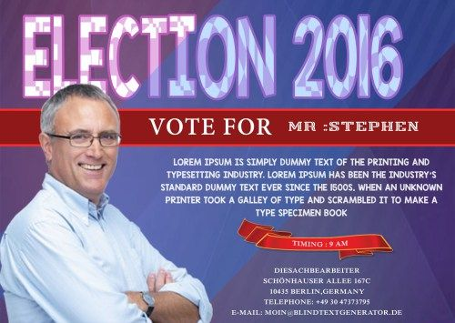 Best Free Political Campaign Flyer Templates Images On - Political campaign brochure template