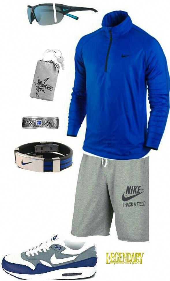 a61077a496e8c Mens blue Nike athletic outfit #RunningShorts | Weight loss wardrobe ...