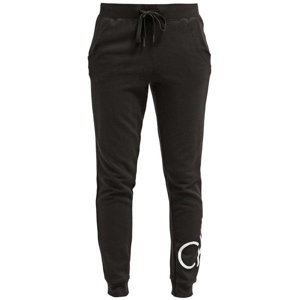 Calvin Klein Underwear Pyjama bottoms black ($49) ❤ liked on Polyvore featuring intimates, sweatpants and calvin klein