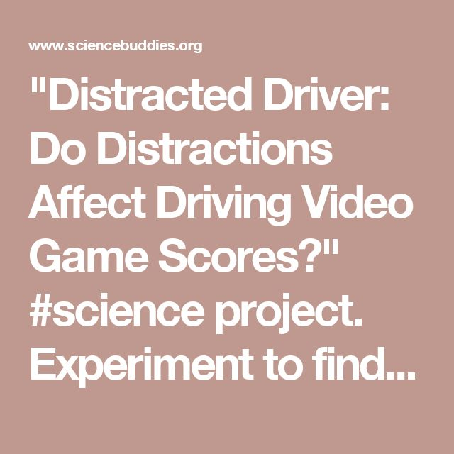 Distracted Driver: Do Distractions Affect Driving Video Game Scores?