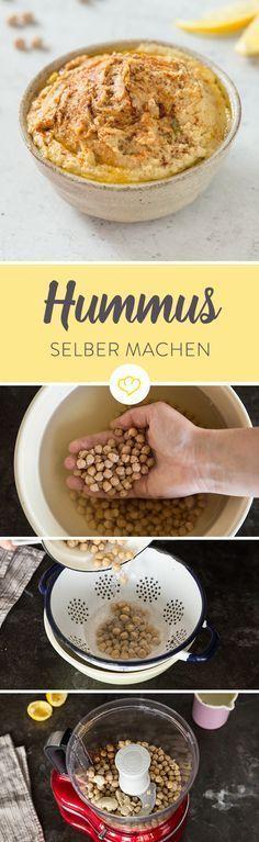 Vergiss Hummus aus dem Supermarkt. Mit diesem Rezept machst du dir den Kichererbsen-Dip ganz einfach selbst, und zwar so cremig wie nie zuvor.