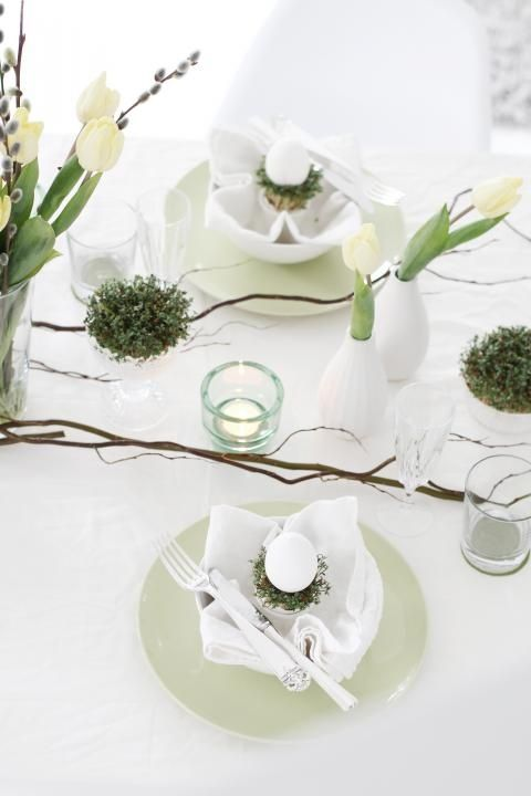 26 Refined White Easter Décor Ideas - DigsDigs