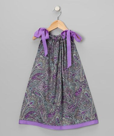 Take a look at this Purple Paisley Swing Dress - Infant, Toddler & Girls by Cozy Bug on #zulily today!