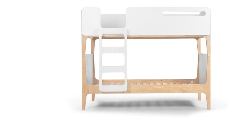 Linus, un lit superposé, pin et blanc | made.com