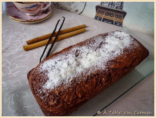 Plum Cake de Chocolate, Canela y Coco ó Plum Cake 3 C's