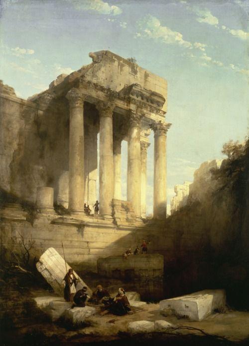 David Roberts (Scotish, 1796-1864), Baalbek - Ruins of the Temple of Bacchus, 1840