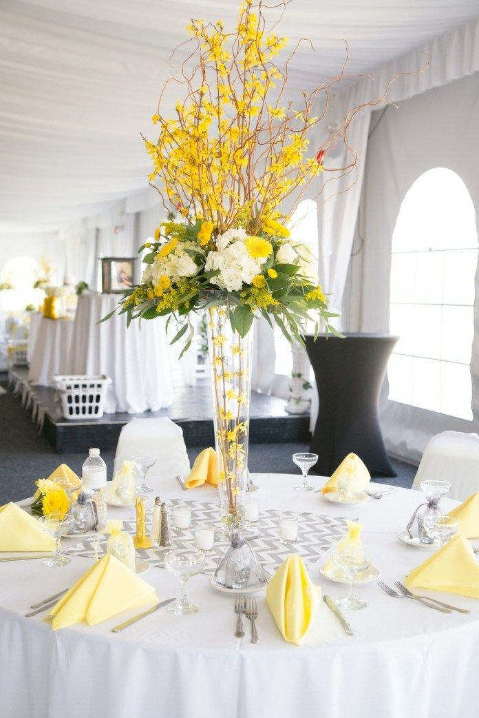 A Chic Yellow And Gray Haitian Wedding In Atlanta Yellow Wedding Decorations Yellow Grey Weddings Yellow Wedding Theme