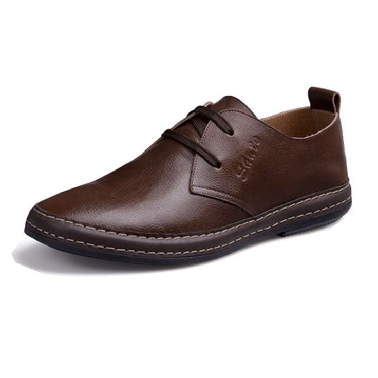 Shoe Avenue - Zapatos de cordones de Piel para hombre Marrón canela FZo6I