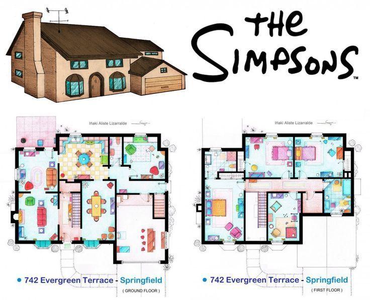 40 Plano De La Casa De Los Simpsons Maison Sims Plan De Maison Interieur Sims 4 Maison