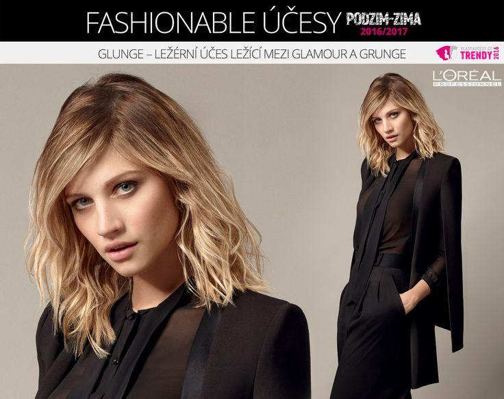 Glunge účes 2017 podle kolekce Fashionable od L'Oréal Professionnel