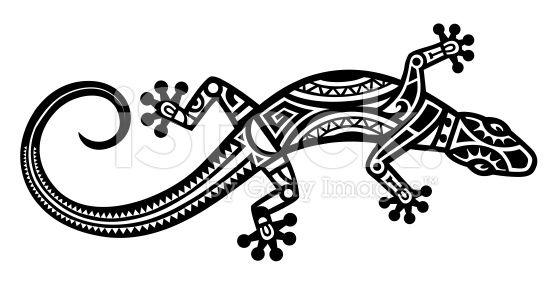 māori art lizard - Google Search