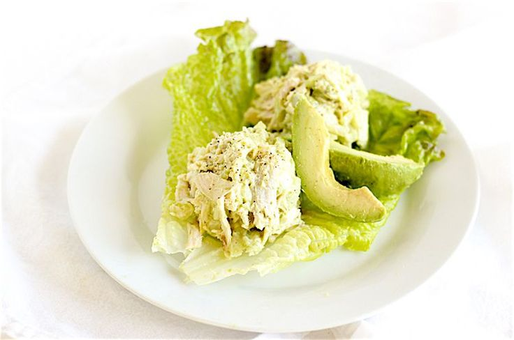 Lighter Avocado Chicken Salad