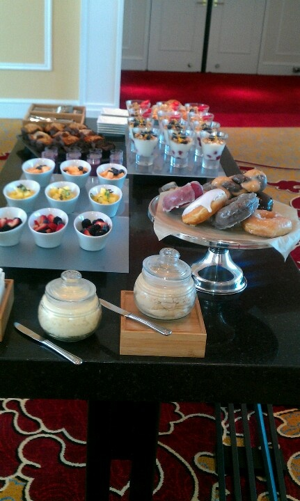 this breakfast buffet layout is minimal but eye catching at the same time try buffet tablesbuffet ideasbreakfast