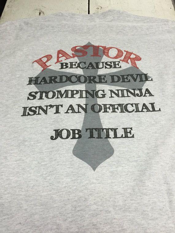 Pastor job title shirt
