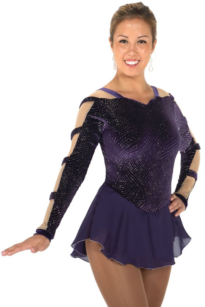 COMPETITION SKATING DRESS JERRY 651 PURPLE MADE ORDER 3 WEEKS FABRICATION