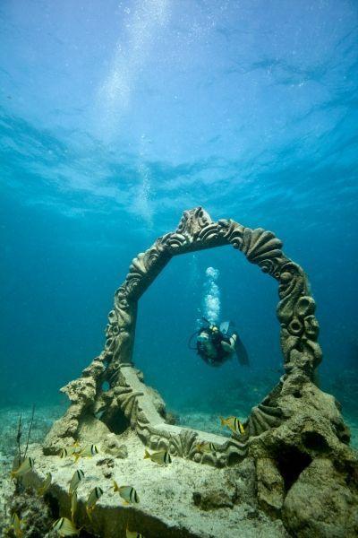 Cancun Underwater Museum, National Marine Park, Yucatan Peninsula, Mexico: