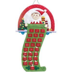 Elf On The Shelf Advent Calendar Felt Applique Kit