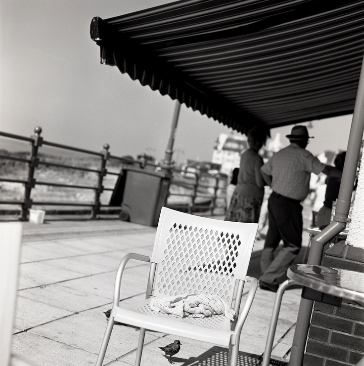 Chair by Keith Moss. #beach #seaside #chair #film #ilford #keithmoss http://keithmoss.co.uk