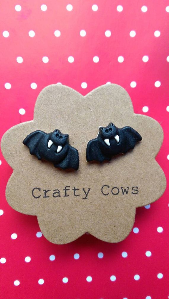 Hey, I found this really awesome Etsy listing at https://www.etsy.com/listing/183203491/bat-stud-earrings-halloween-vampire-bat