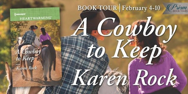 My blog tour for A COWBOY TO KEEP begins today! Stop by my website, http://www.karenrock.com for the websites where you can  enter to win my 7 book #giveaway (Does not include A COWBOY TO KEEP) plus a $50 Amazon Gift Card! You'll also get to read fun blog posts about the book, interviews and reviews. I hope you can stop by :)