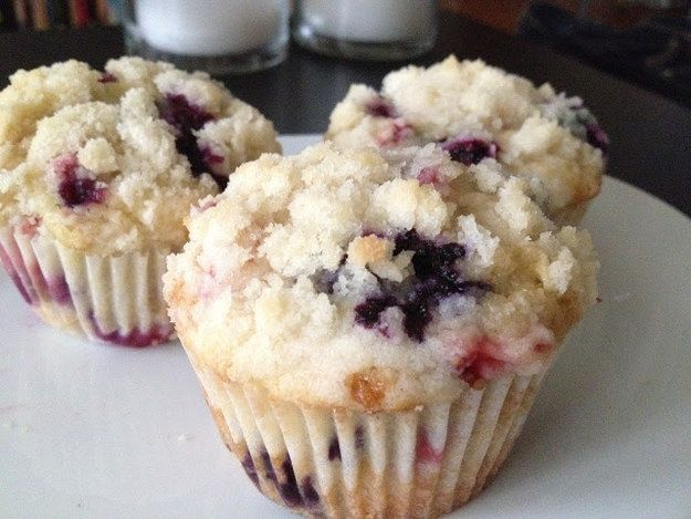 13. Strawberry Blueberry Muffins