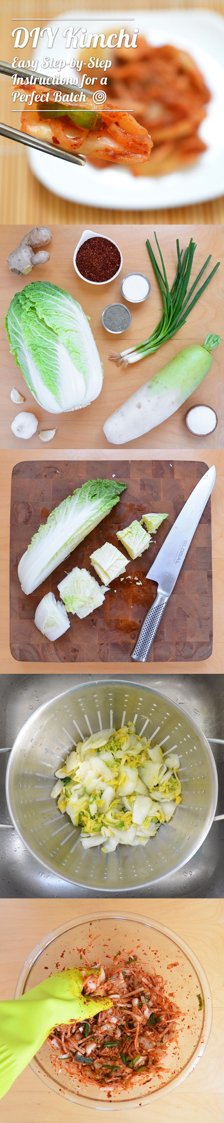You'd never guess that making DIY Homemade Kimchi was so easy! One of my favorite easy recipes featuring napa cabbage. (Leftover Cabbage Recipes)