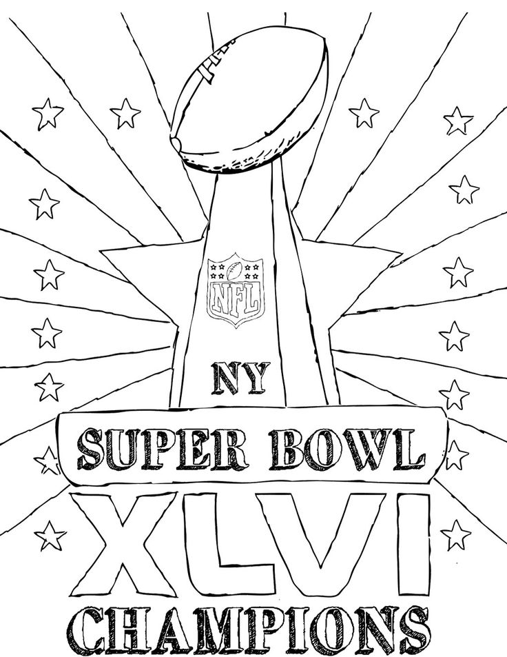 pictures super bowl champions coloring pages - Super Bowl Trophy Coloring Pages