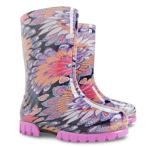 Twister Print M Demar Kalosze Dzieciece Boots Rain Boots Rubber Rain Boots
