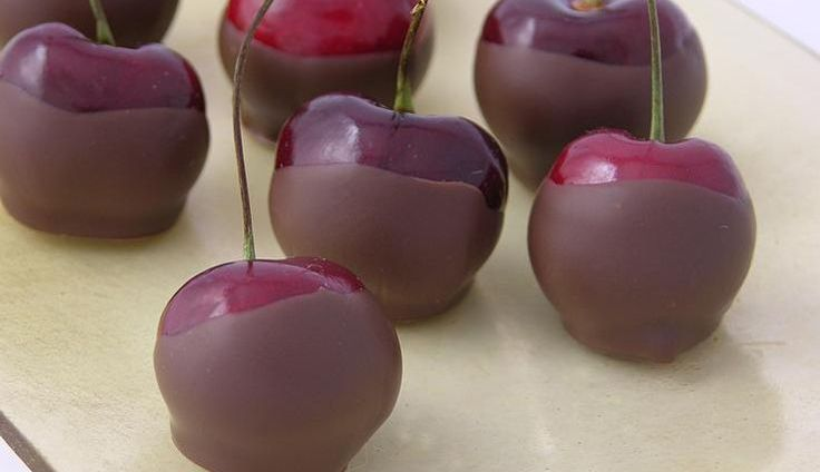 Chocolate Dipped Cherries Fresh Fruit Recipe