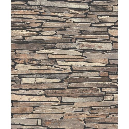 Rustic stone wall effect wallpaper
