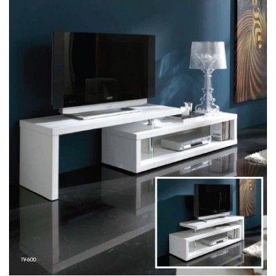 Mueble television ele blanco brillo tv 600 precio for Precios de muebles para el hogar