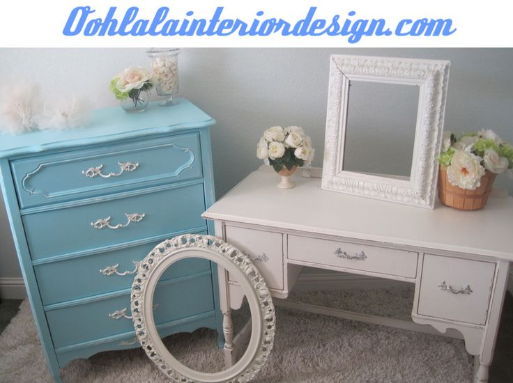 Vintage French Provincial and shabby chic furniture at:  oohlalainteriordesign.com