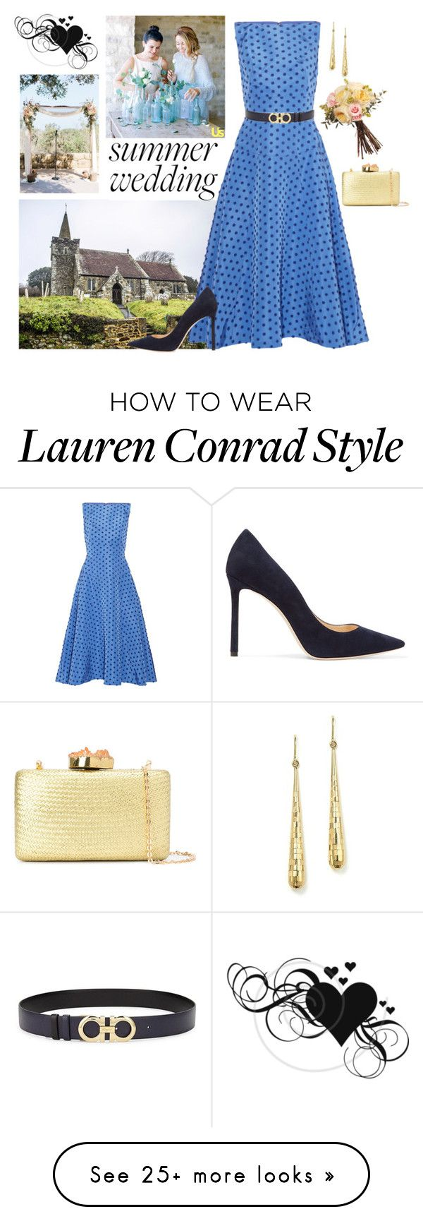 """""""Untitled #4012"""" by injie-anis on Polyvore featuring Bloomingdale's, Lela Rose, Jimmy Choo, Salvatore Ferragamo, Lauren Conrad and Kayu"""