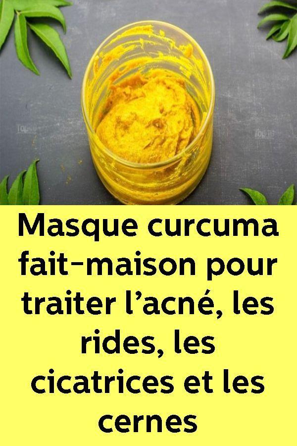 Masque curcuma fait maison pour traiter l acn les rides les cicatrices et les cernes - Masque anti cerne maison ...